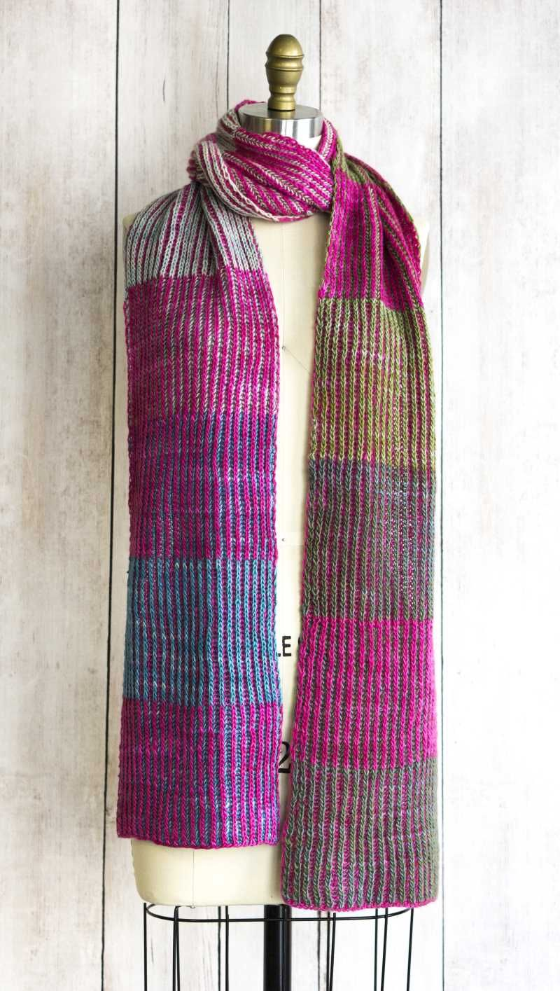 Free Knitting Pattern for a Byberry Scarf   Knitting patterns ...