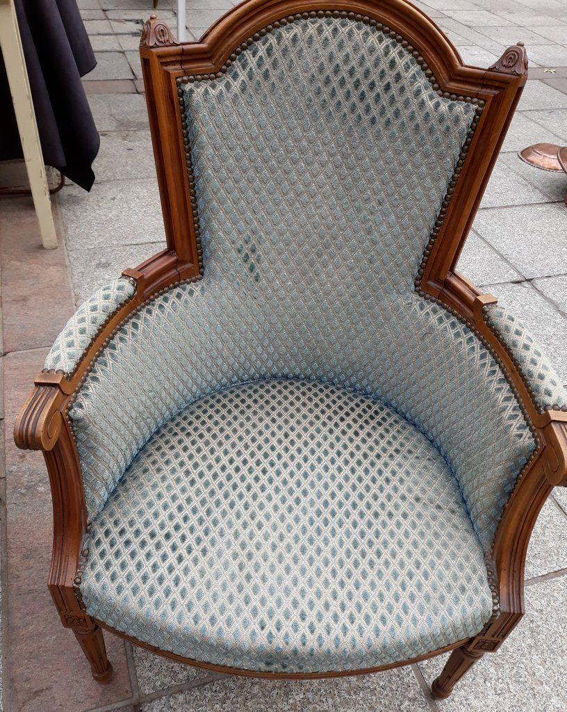 fauteuil ancien bergere style louis xvi 1 fauteuil bon tat bergre dossier cathdrale style louis xvi - Fauteuil Bergere Ancien