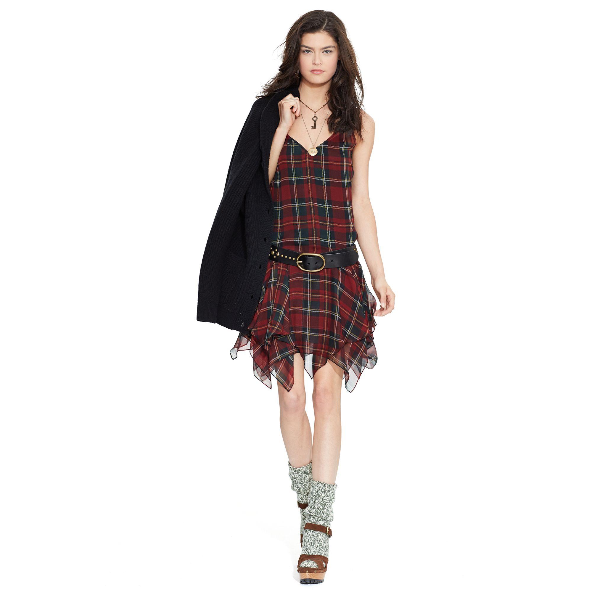 Silk Tartan Sleeveless Dress ・Polo Ralph Lauren - WOMEN - Dresses ...