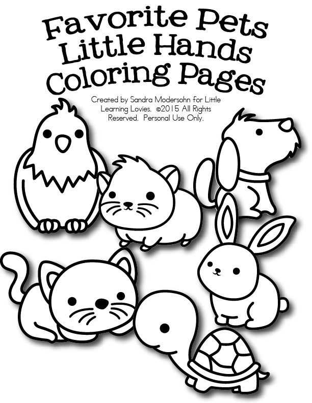 FREE Set Of Pet Coloring Pages