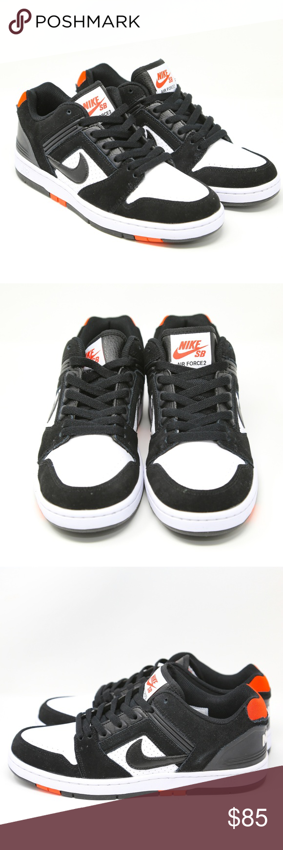 24b430025f71b Nike SB Air Force II 2 Low BRED Black Red AO0300 9 Men's Nike SB Air ...