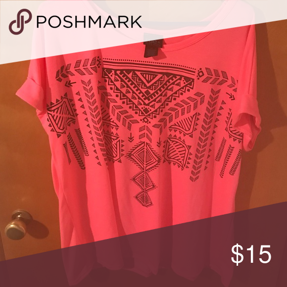 Rue 21 tshirt. 2x Pink rue 21 tshirt.  Never worn Rue 21 Tops Tees - Short Sleeve