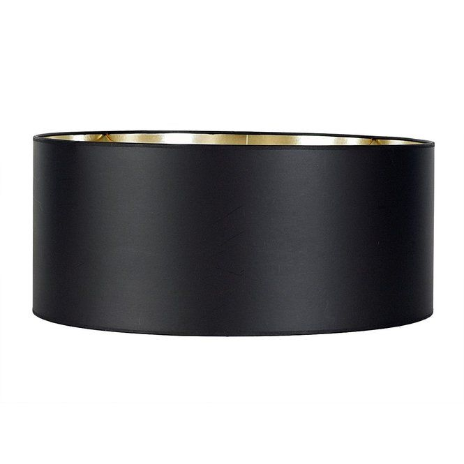 16 Modern Drum Paper Shade With Foil Lining Black Lampshade Modern Drum Drum Shade