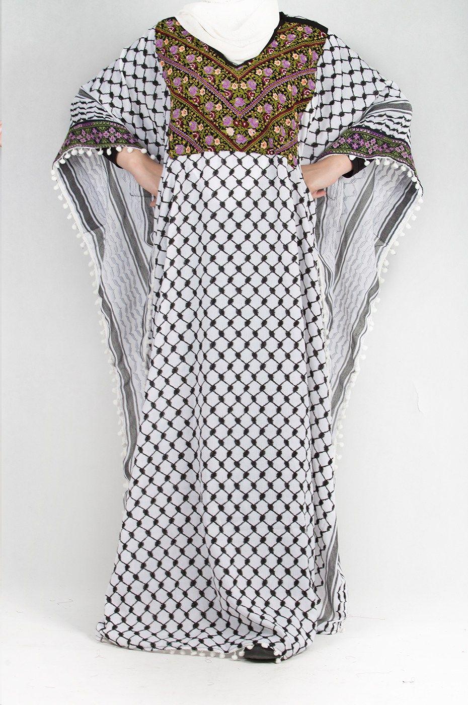 عباية الحطة الفلسطينية متجر السندس Fashion Maxi Dress Dresses