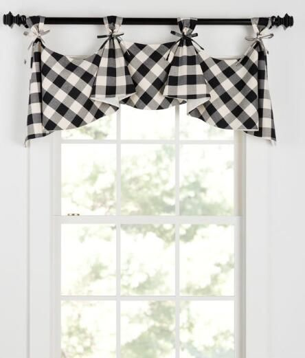 Buffalo Check 3 Tab Top Lined Flounce Valance Final Sale No Returns Exchanges Was 79 95 Now 63 96 Living Room Decor Curtains Country Curtains Farmhouse Curtains