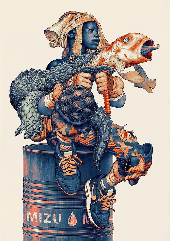 Mixed Media Illustrations par James Jean | Inspiration Grille | Design Inspiration