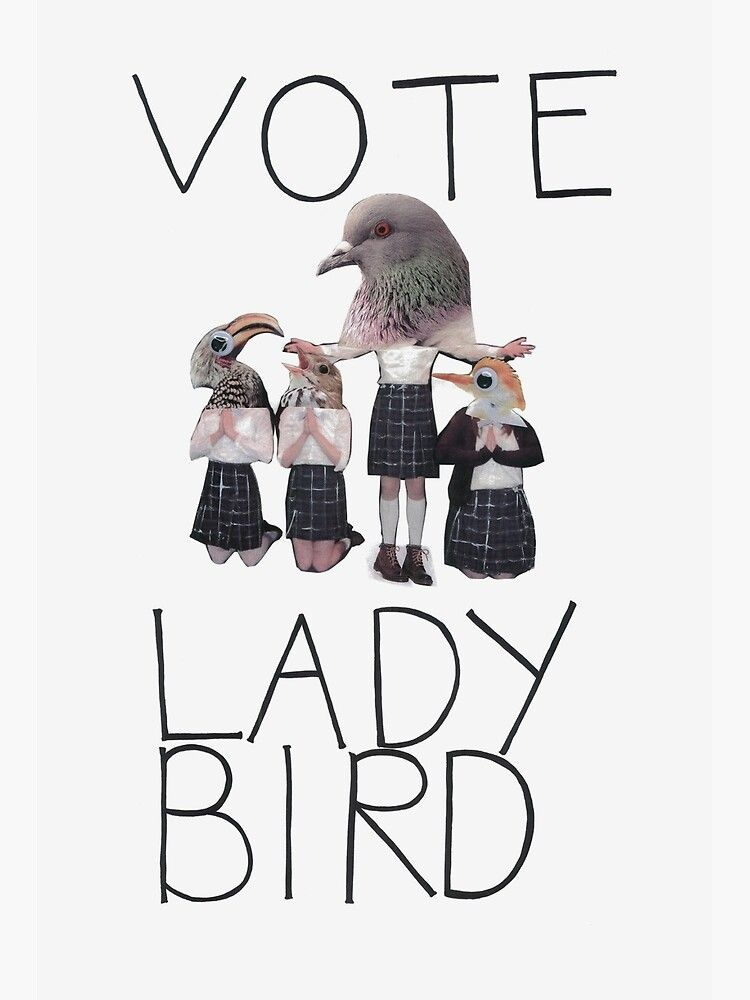 Vote Lady Bird Poster By Dearesthoneybee In 2020 Lady Bird Bird Poster Bird Art Print