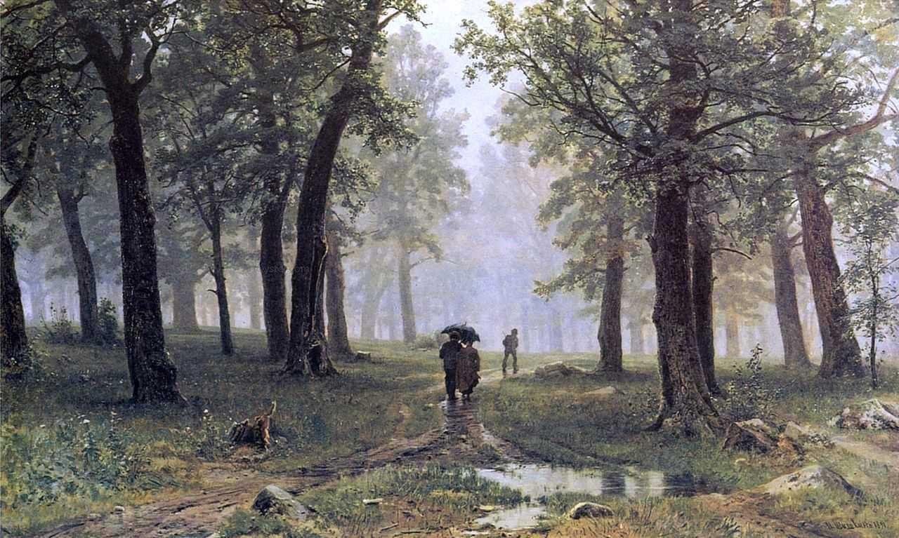 Картина аллея в парке шишкин