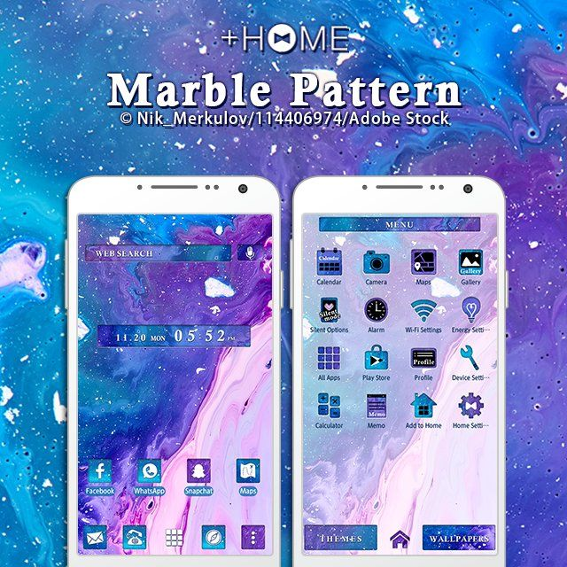 """Marble Pattern"" Pink and blue pigments combine to make a pretty marble patterned theme. """