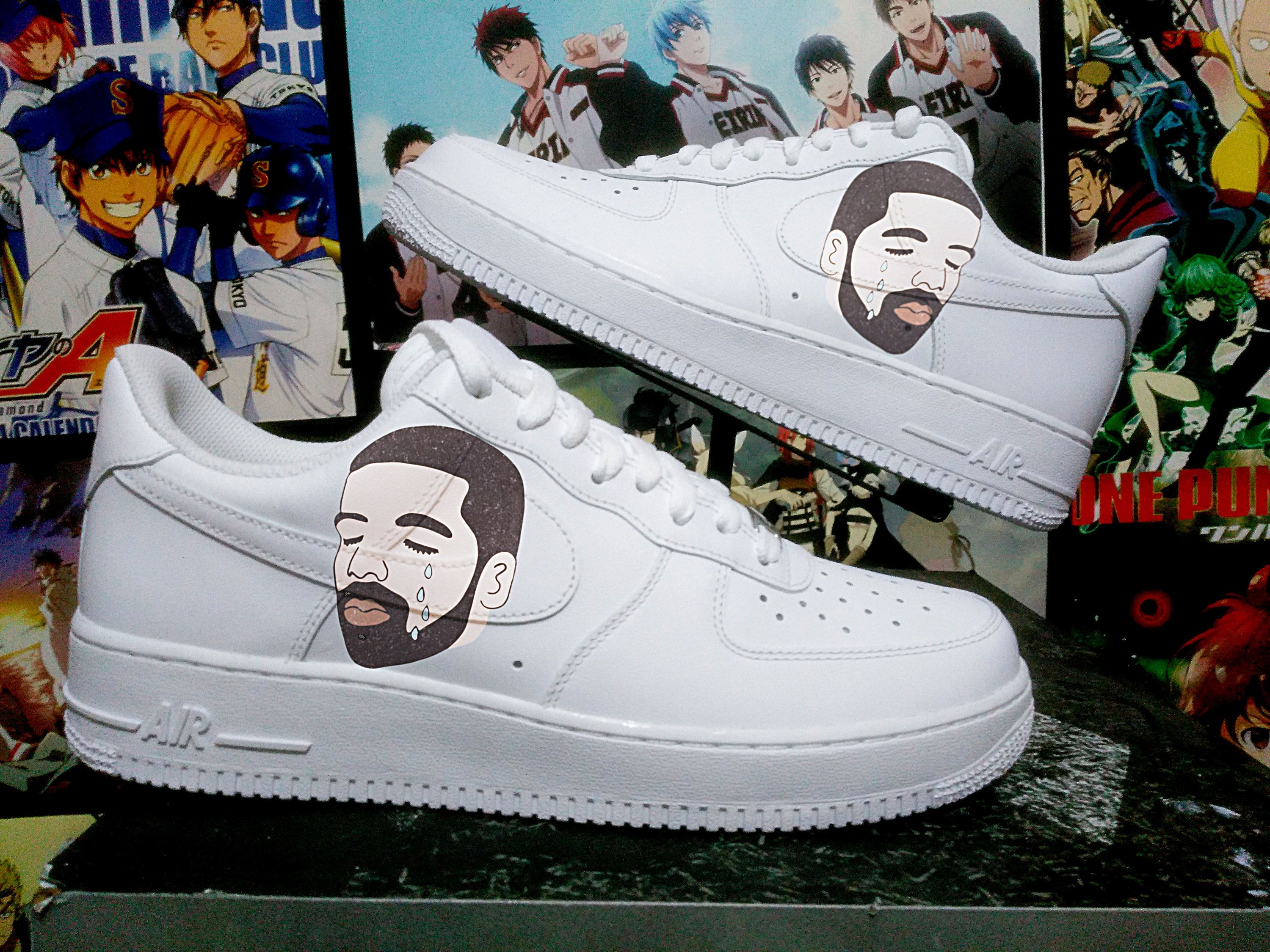 huge selection of df348 407b1 Custom Nike Air Force one,drake,ovo,damn,custom sneakers , custom shoes , custom  nike ,custom kicks ,hand painted