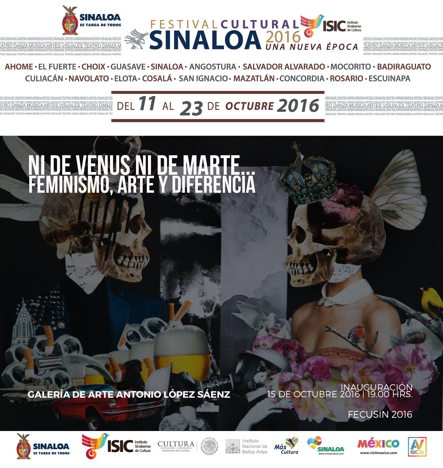 Inauguración de la exposición Ni de venus ni de marte... Feminismo, Arte y diferencia. Galería Antonio López Saenz #GAALS. 15 de octubre de 2016, 19:00 hrs. Entrada libre.
