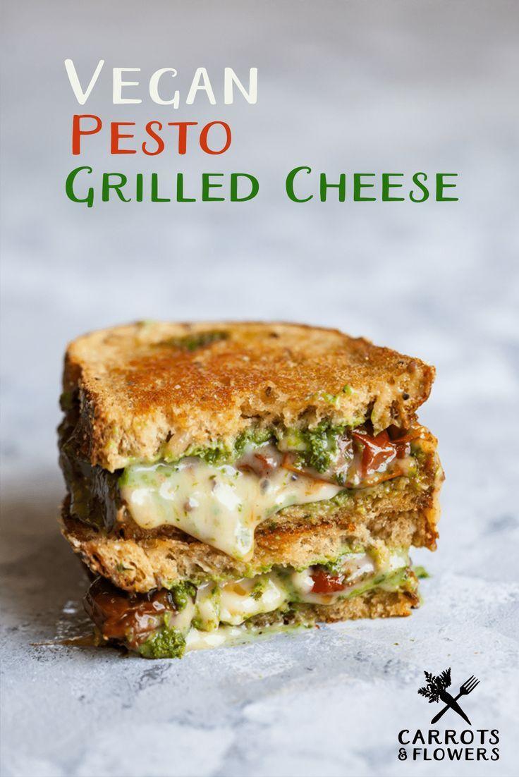 Vegan Pesto Grilled Cheese images