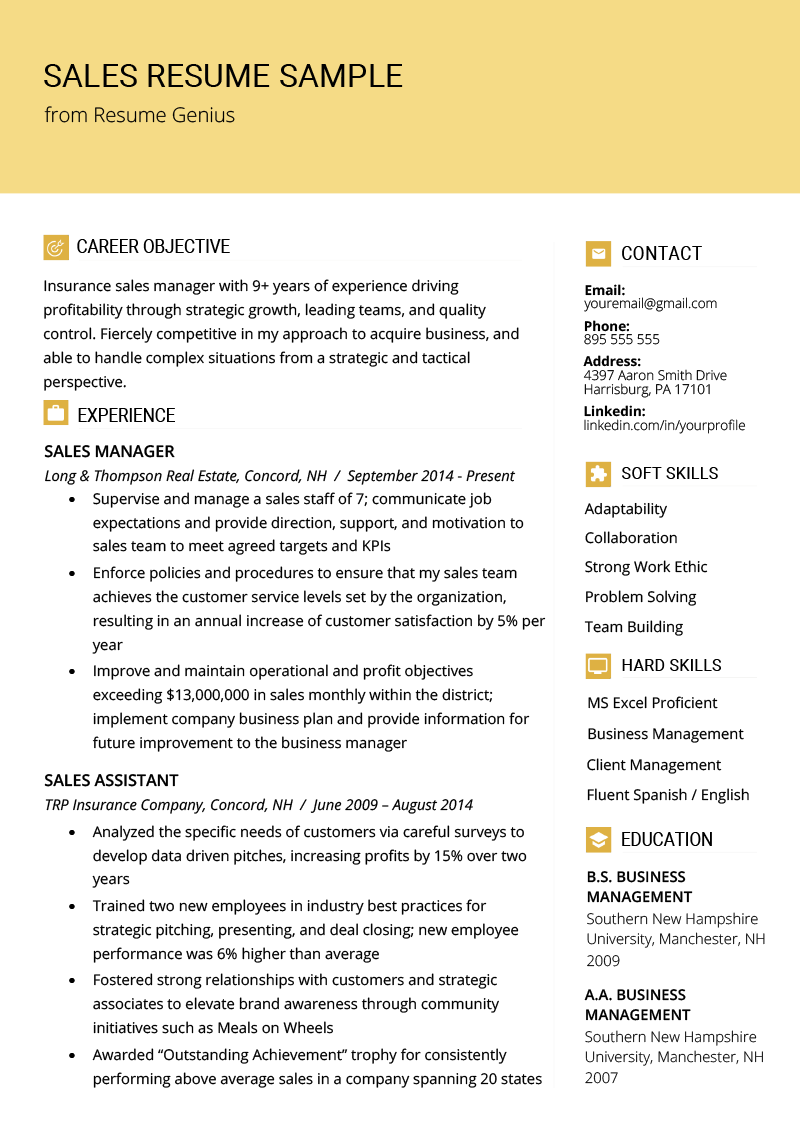 Sales Resume Samples Writing Tips With Images Sales Resume