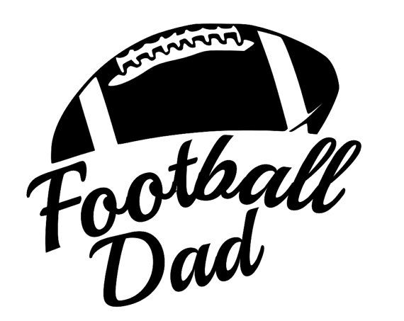 Sports decals football dad 6 5 decal show support for your team proudly display on car windows locker jeep truck laptop computer