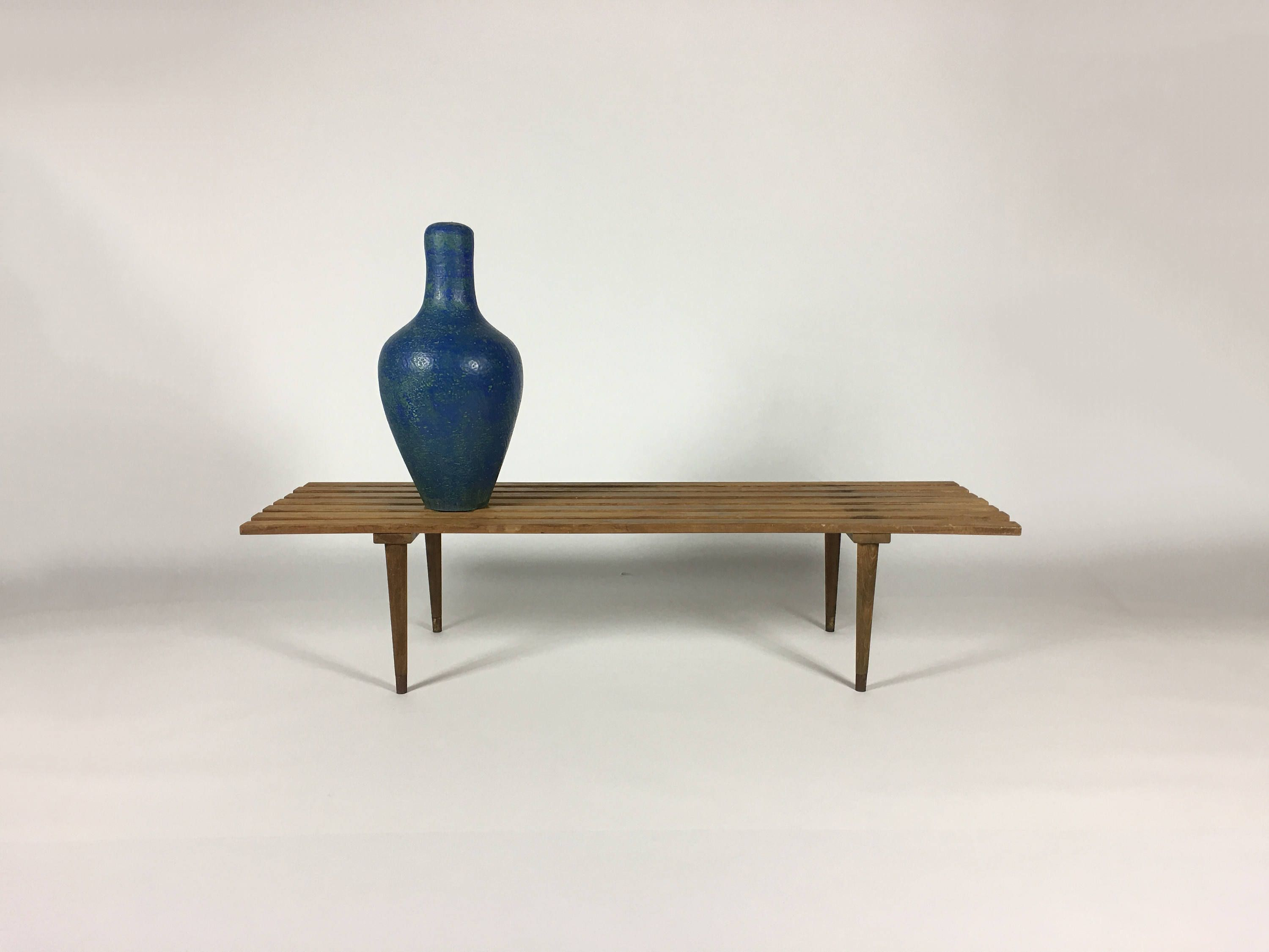 Wooden Bench Modern Coffee Table Walnut Coffee Table Entryway