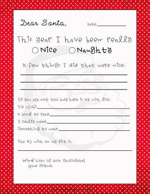 Printable Letter To Santa  Deck The Halls