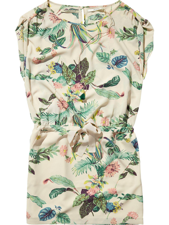 Botanical Print Dress Scotch Amp Soda Looks Fashion