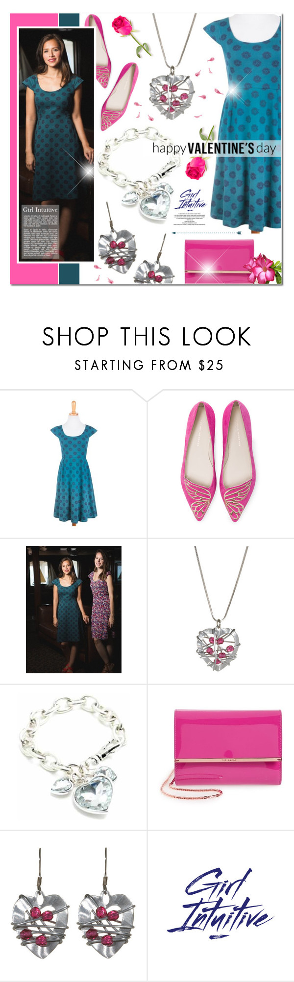 """""""Girl Intuitive 26"""" by anyasdesigns ❤ liked on Polyvore featuring Piccadilly, Sophia Webster, Ted Baker and StyleNanda"""