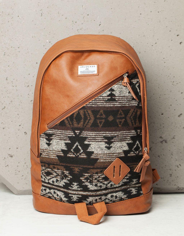 ceafa7bd34 Zaino jacquard etnico - Accessori - Bershka Italy | Bags, Borse ...