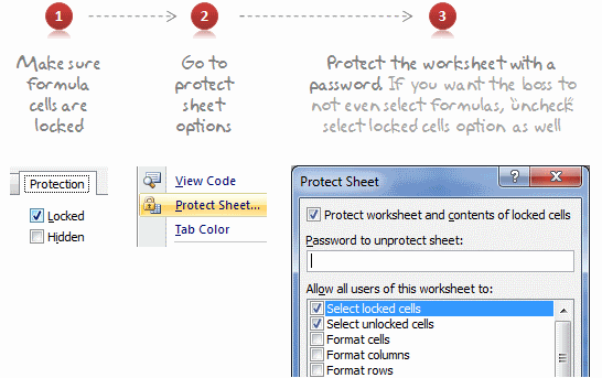 Lock Formula Cells And Protect The Worksheet | excel | Pinterest ...