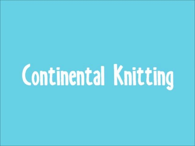 This video is part of a blog post and a video tutorial series on different ways to knit faster, which can be found at http://100babysweaterpatterns.com/speed-knitting Continental knitting is one method of speeding up your knitting, and is the way I personally knit most of the time.