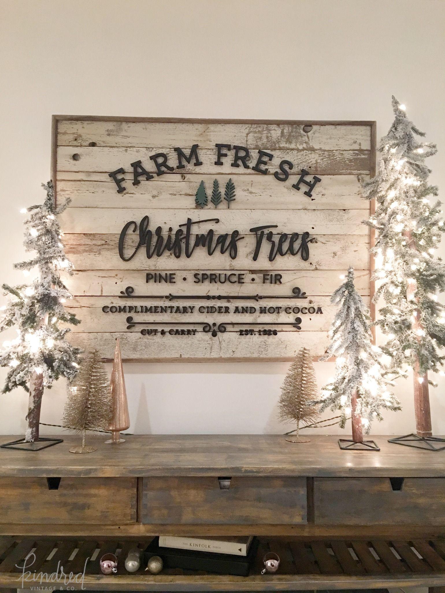 Farm Fresh Christmas Trees Sign Christmas Signs Wood Christmas Decorations Rustic Fresh Christmas Trees