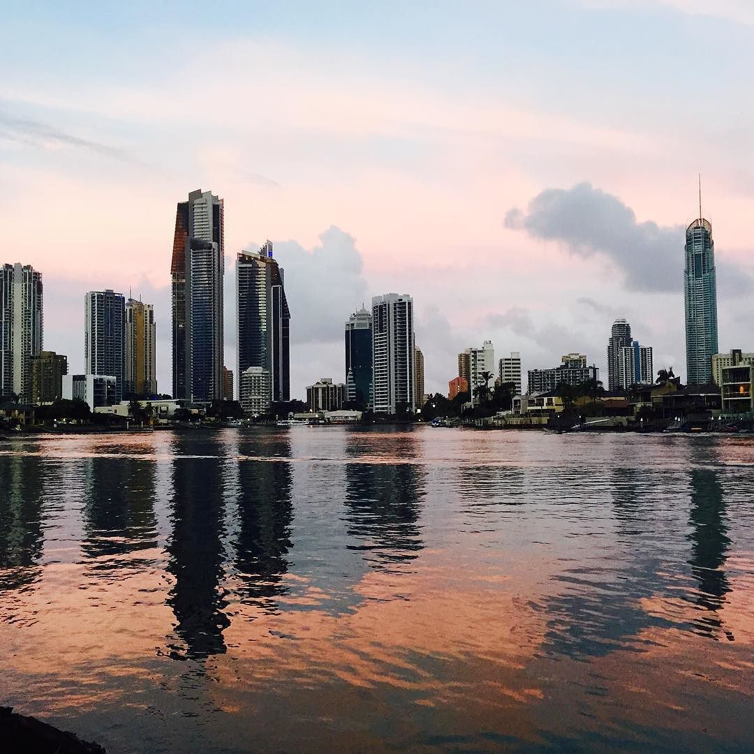 View of surfers paradise at dusk by _nicolahead_