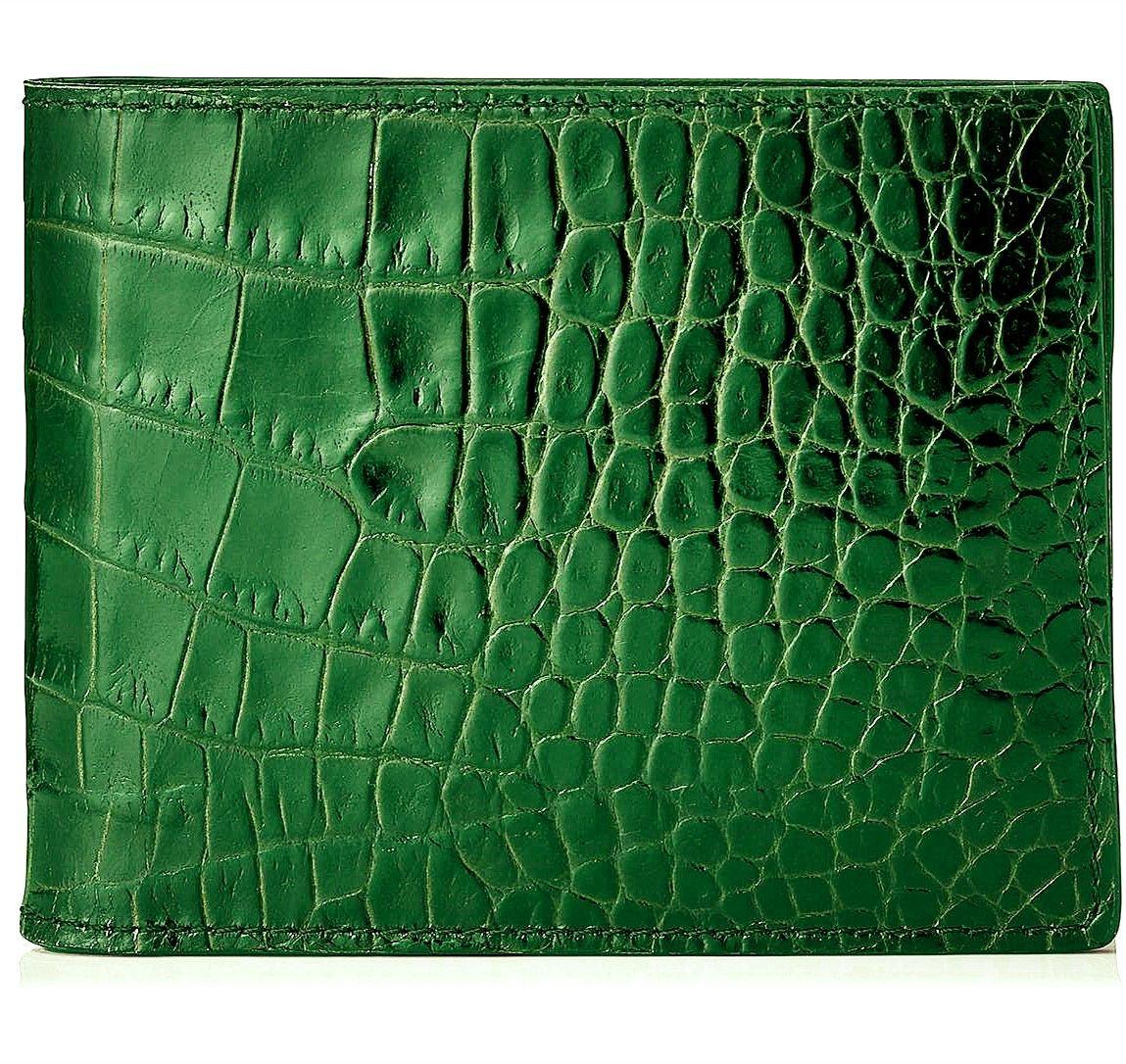 Gift for him leather wallet men, Premium Genuine Crocodile Alligator Leather Skin Bifold Wallet for Men,Handmade Leather wallet