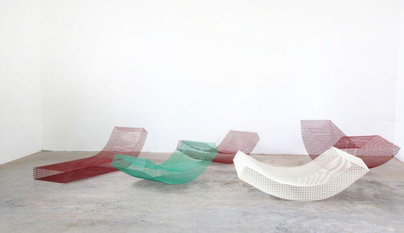 muller van severen biennale interieur kortrijk wires chair designboom