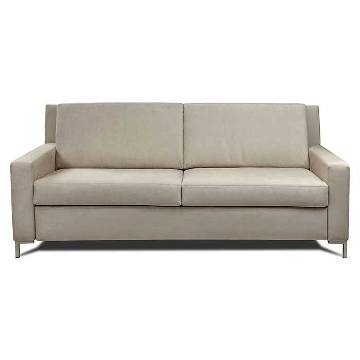 Chaise Lounge Sofa Brynlee Comfort Sleeper features architectural track arms and boxed cushions Designed with clean lines and