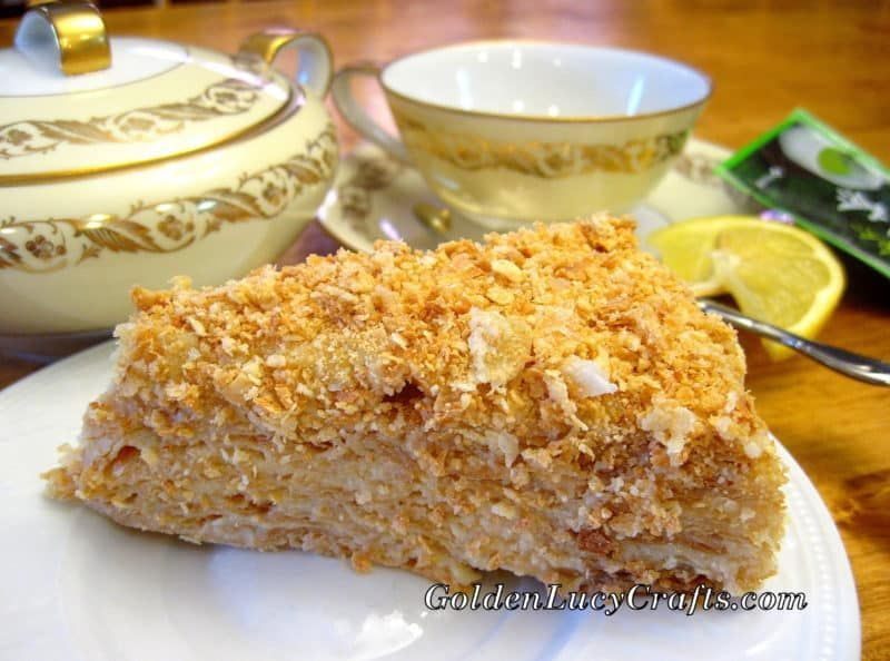 Napoleon Cake Recipe, Napoleon Torte #napoleonkuchenrussisch Napoleon Cake Recipe, Napoleon Torte - GoldenLucyCrafts #napoleonkuchenrussisch