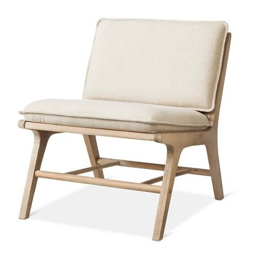 Lincoln Cane Chair With Upholstered Seat   Natural   Threshold™ : Target