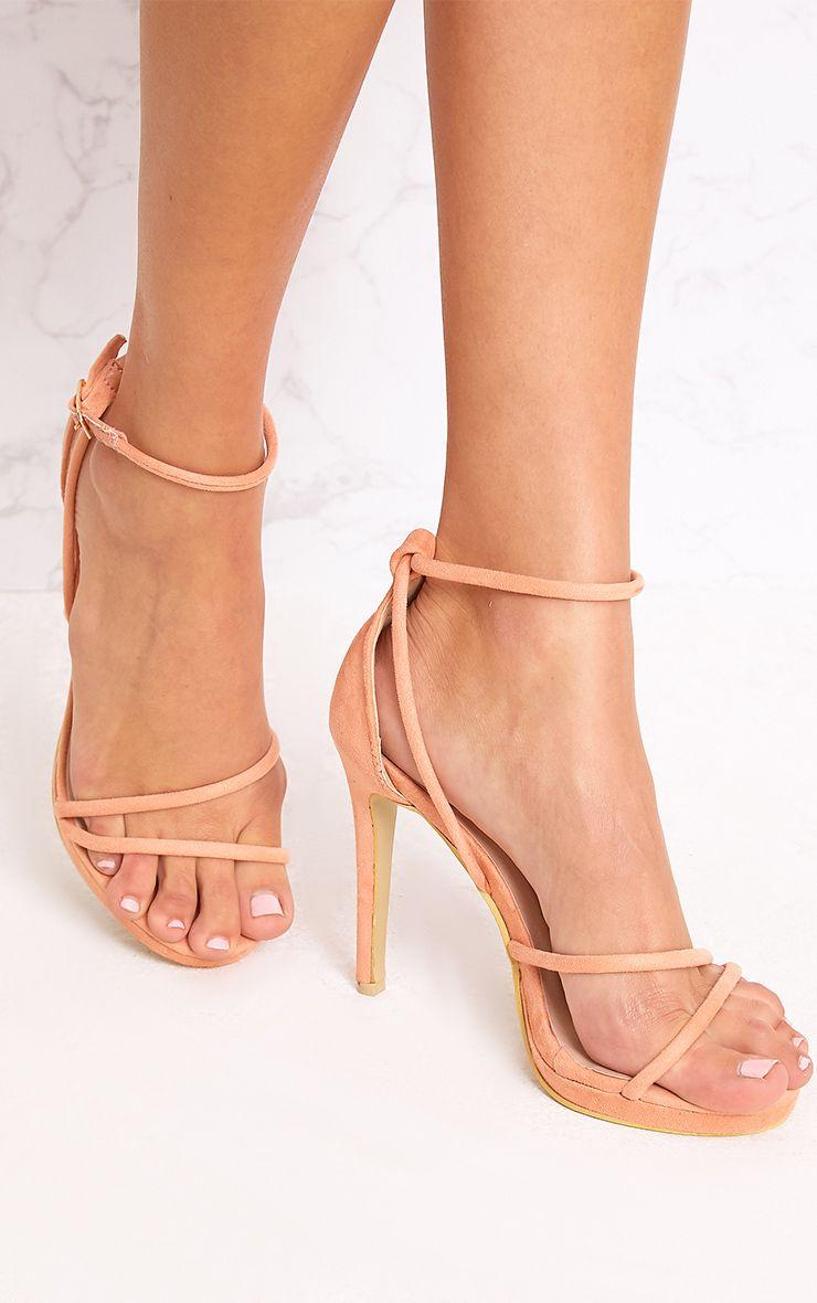 c726aeffc92 Peach Strappy Heels | Glam | Strappy heels, Heels, Peach shoes