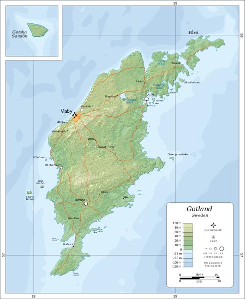 FileTopographic Map Of Gotlandsvg Mapas Cartografía - Sweden map svg