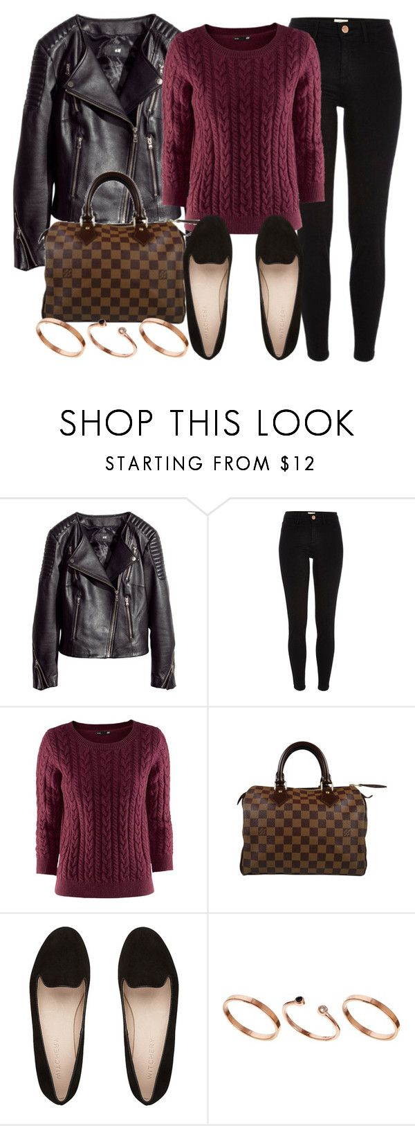 """""""Style #9819"""" by vany-alvarado ❤ liked on Polyvore featuring H&M, River Island, Louis Vuitton, ASOS, women's clothing, women, female, woman, misses and juniors"""