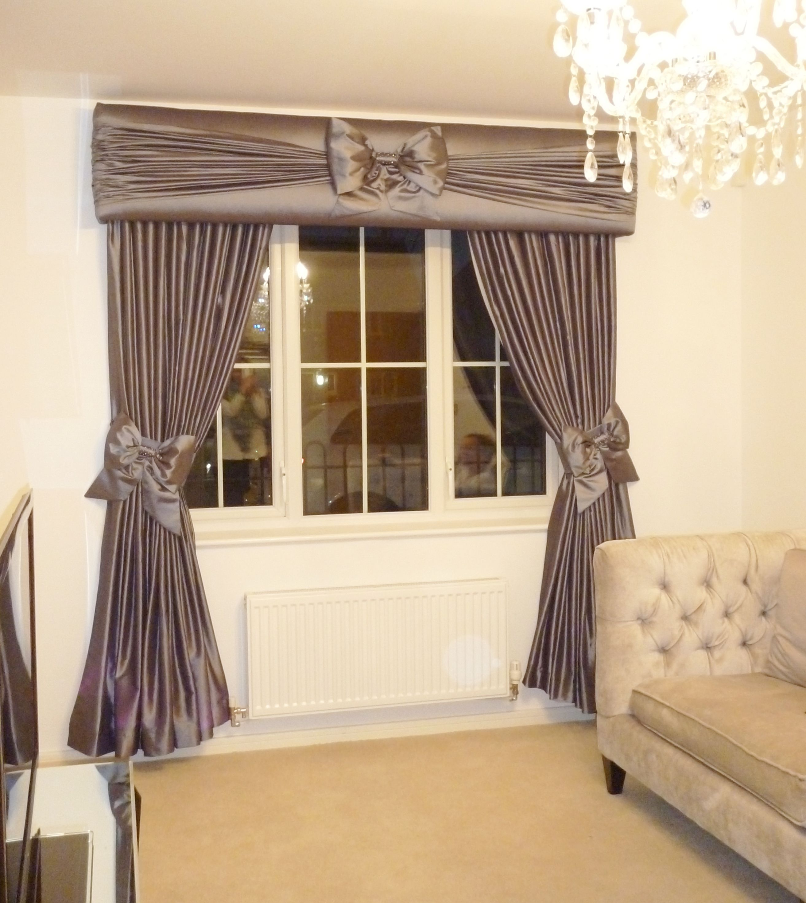 Ruffle Bow Pelmet And Curtain Range