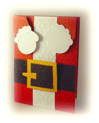 Scrapbook y m s postal santa claus decoraci n navide a - Manualidades tarjeta navidena ...