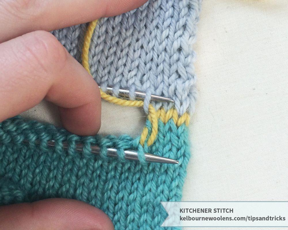 Kitchener stitch kelbourne woolens baby sweater
