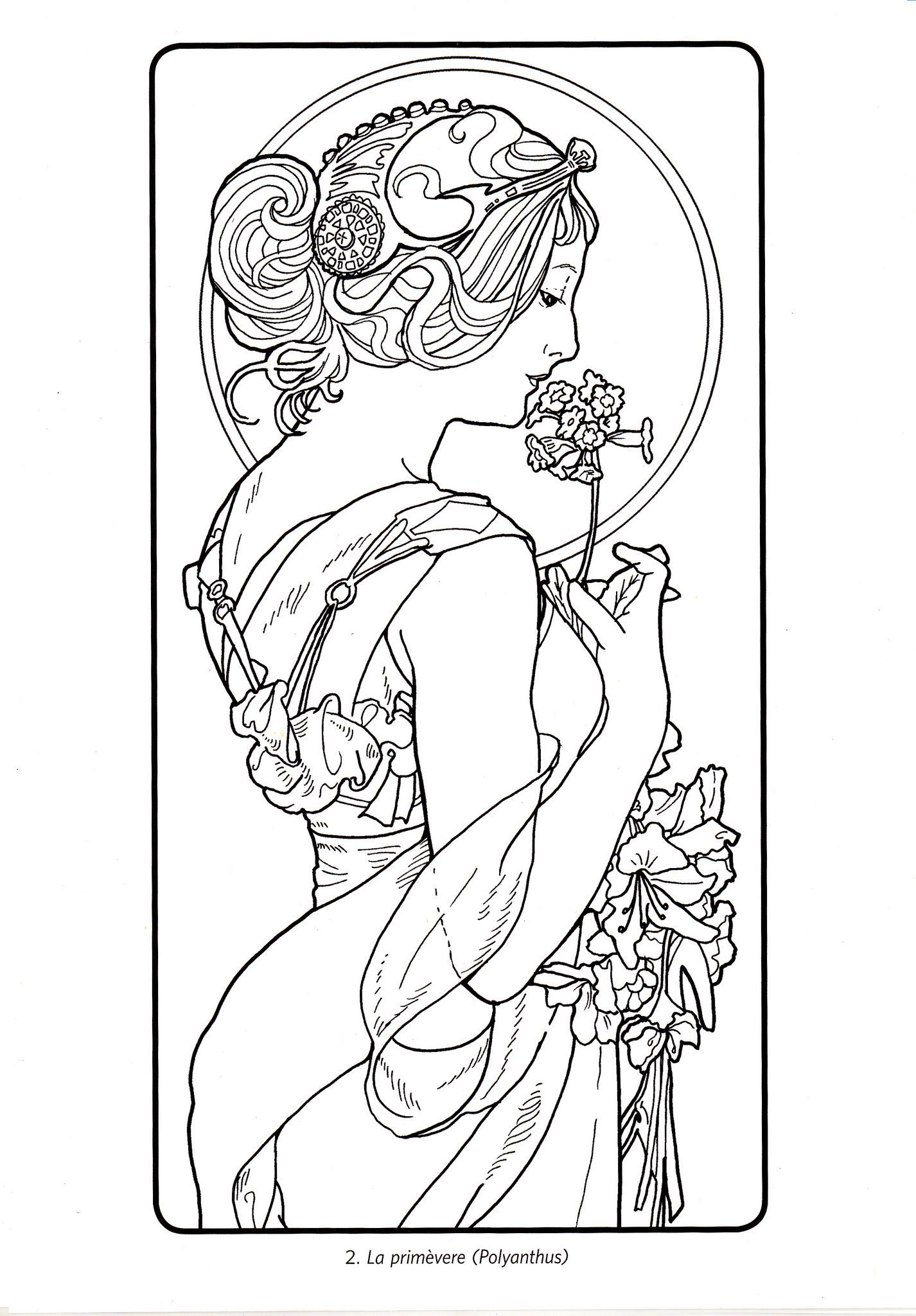 art nouveau coloring pages - photo#30