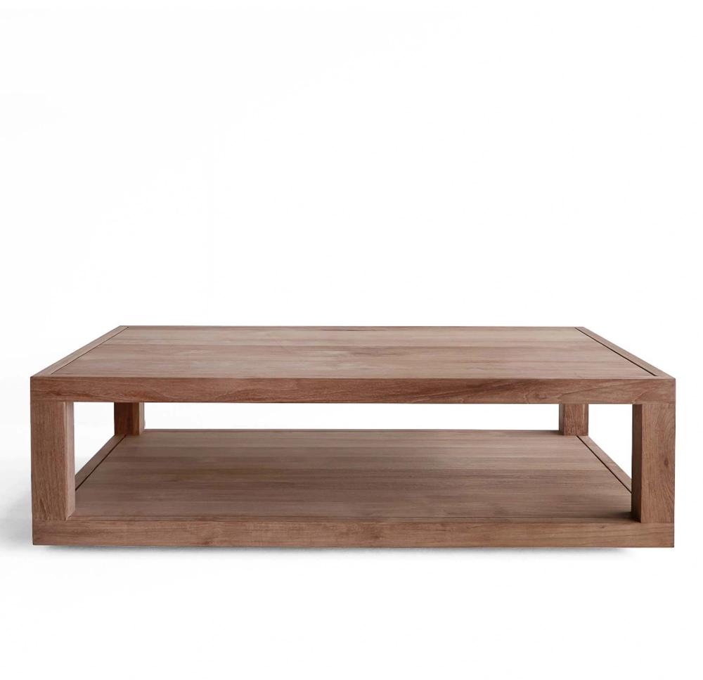 Ethnicraft Teak Coffee Table Duplex Rectangle Originals Furniture Coffee Table Coffee Table Wood Table [ 967 x 1000 Pixel ]