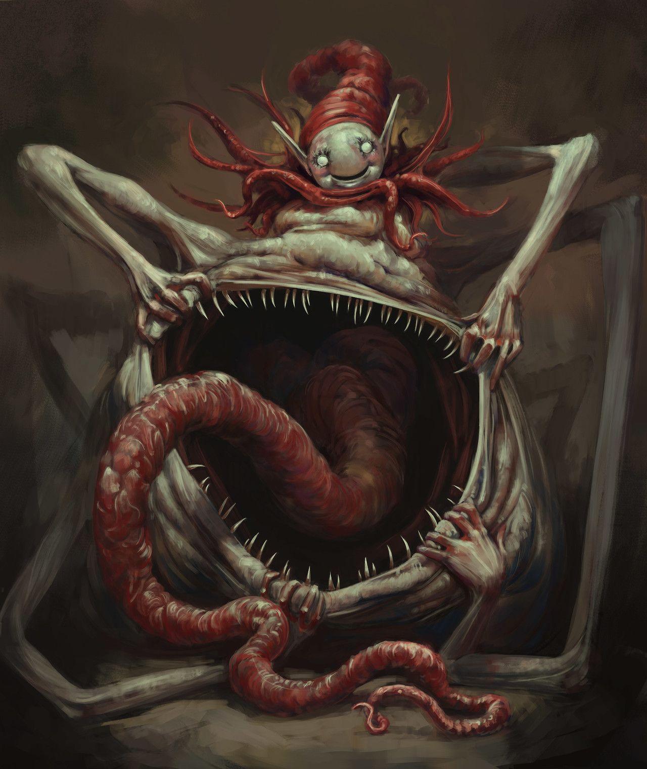 Картинки ужастики монстры