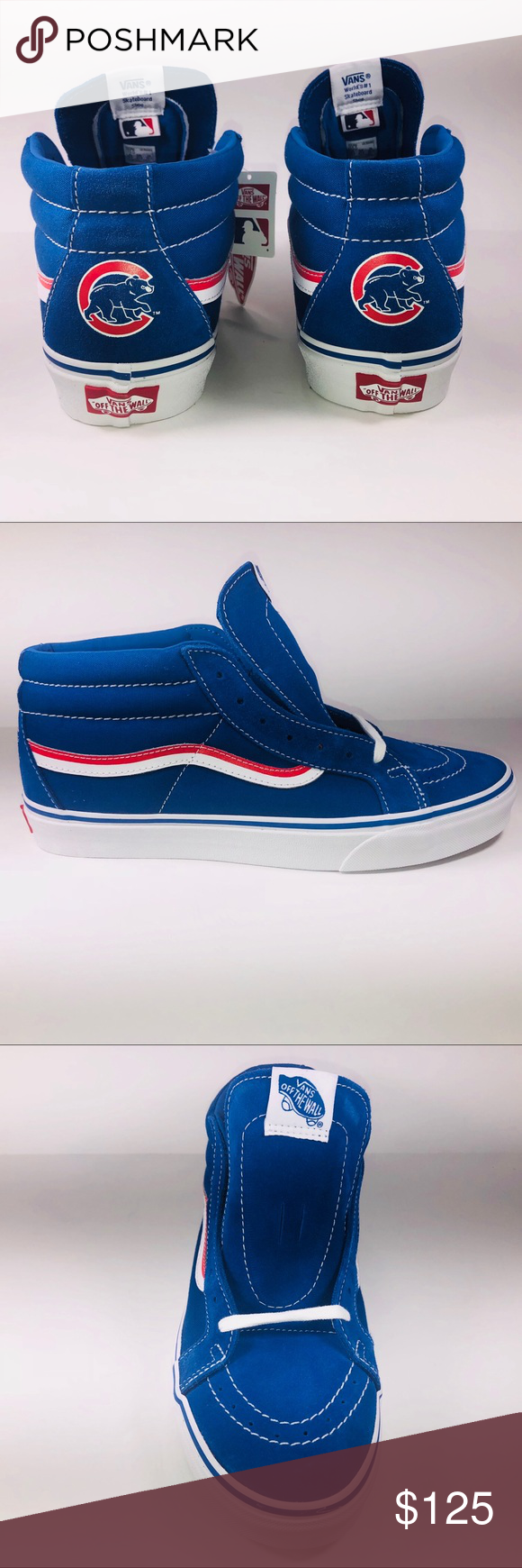 deffbb2e0f VANS SK8 Mid MLB Cubs Classic Blue Skateboard Shoe New With Box See  Pictures For Details