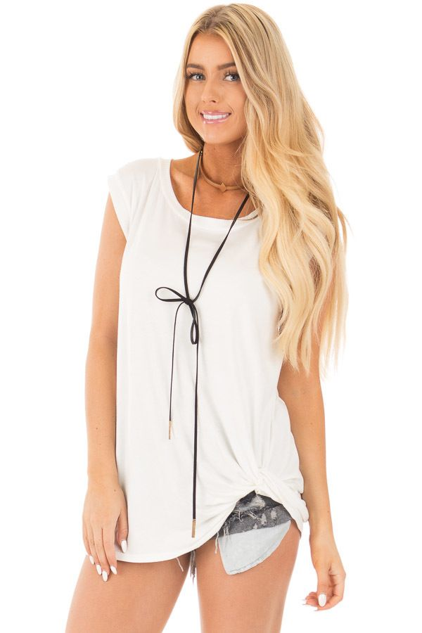 52758f85cda Lime Lush Boutique - Off White Sleeveless Top with Twist Detail, $34.99  (https:
