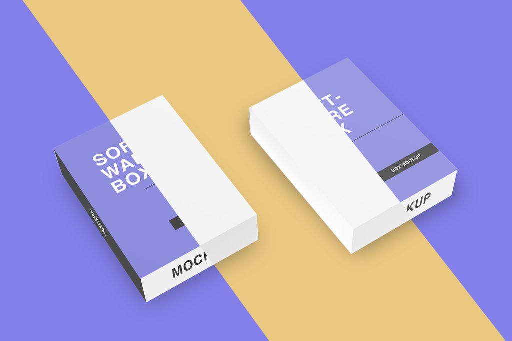 Download Software Package Box Mockup Bundle Box Mockup Soap Packaging Diy Box Packaging