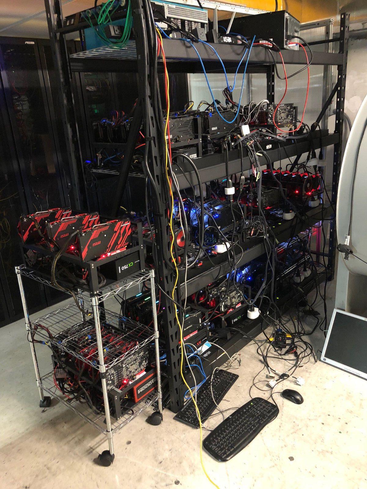 Crypto Mining Rig (12 5x6) 75 GPU x570/580 AMD cards,(Eth/altcoin