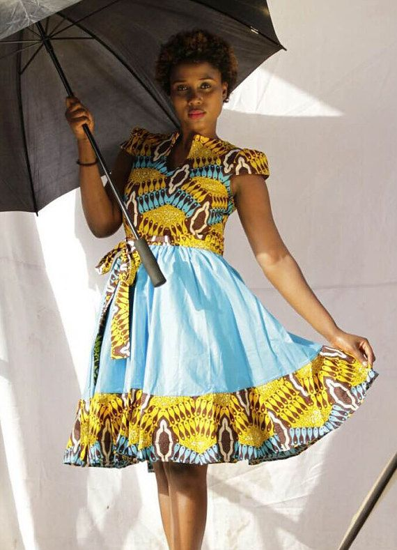 African Print Dress African Clothing Women By Nayaasdesigns