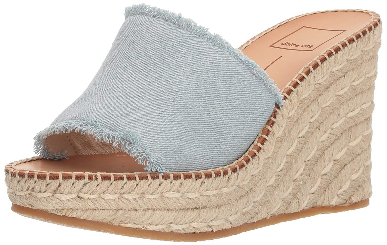 c514a87e0ce8 Dolce Vita Women s PIM Espadrille Wedge Sandal. With unfinished edges