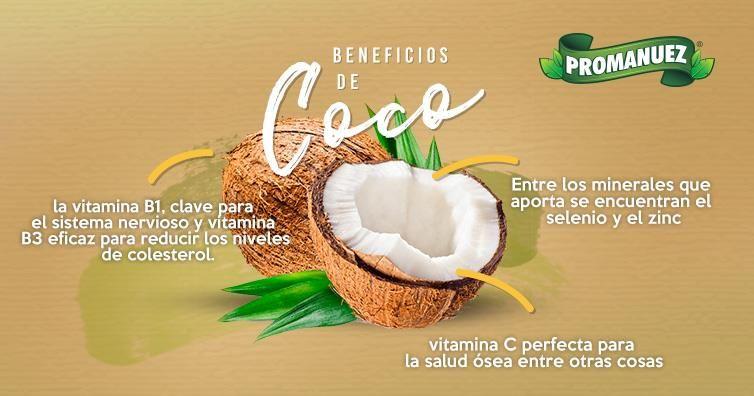 En Promanuez Te Platicamos Algunos De Los Beneficios Que El Coco Brinda A Tu Salud Ven Por él A Promanuez Http Www Promanuez Coco Salud Vitamina E