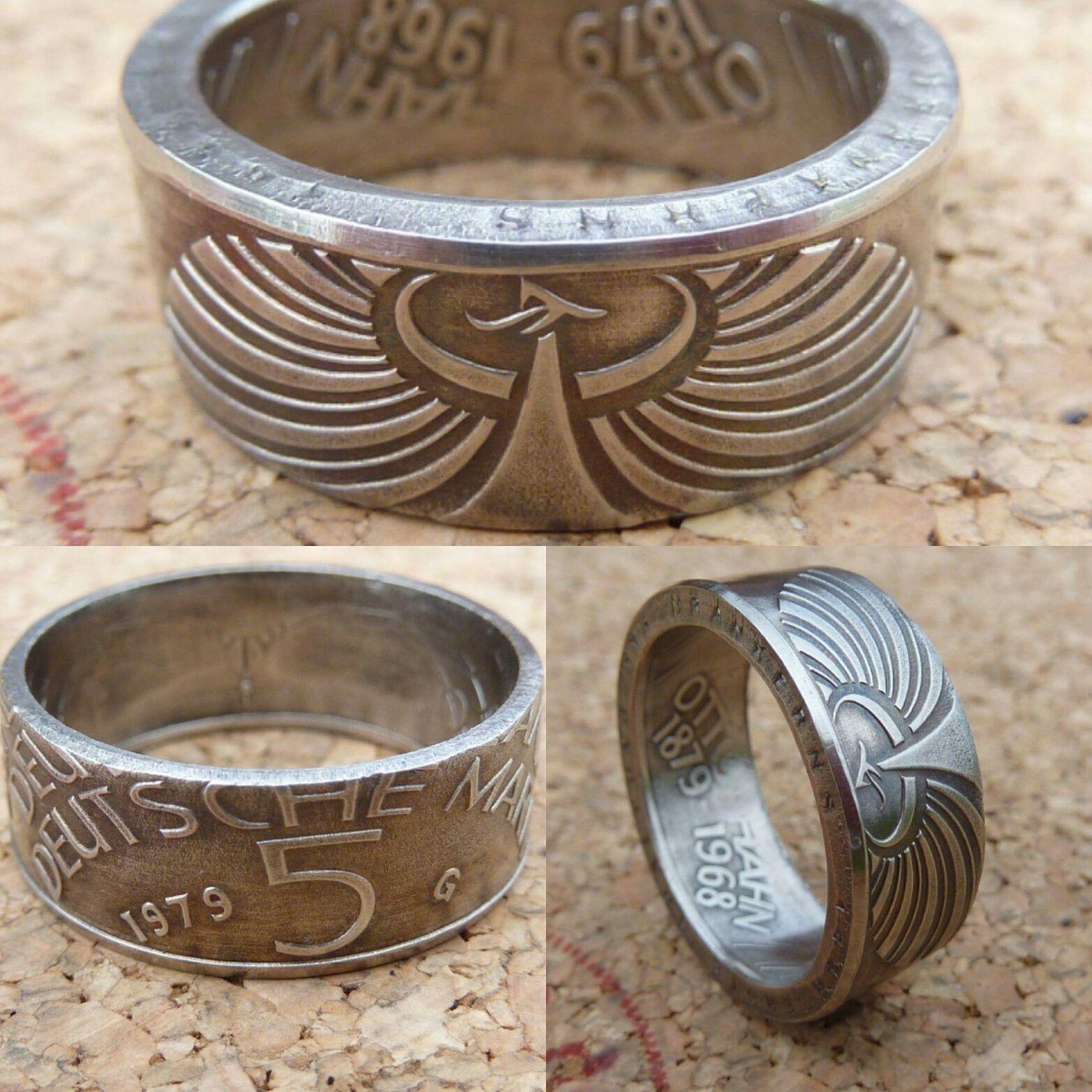5 Dm Münze Als Ring In Allen Perspektiven Ringe Aus Münzen
