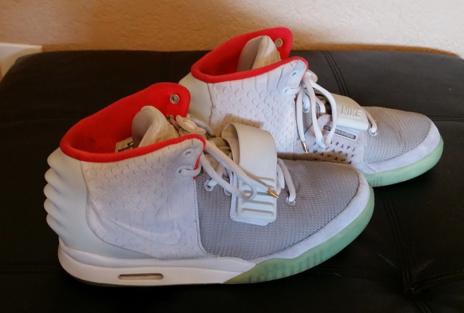 buy popular 91b3f a76aa ... promo code for nike air yeezy 2 shoes kaney west platinum nrg used size  12 ebay